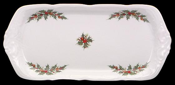 Christmas Berry Fine China Sandwich Tray