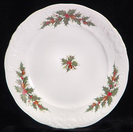 Christmas Berry Fine China Dessert Plate