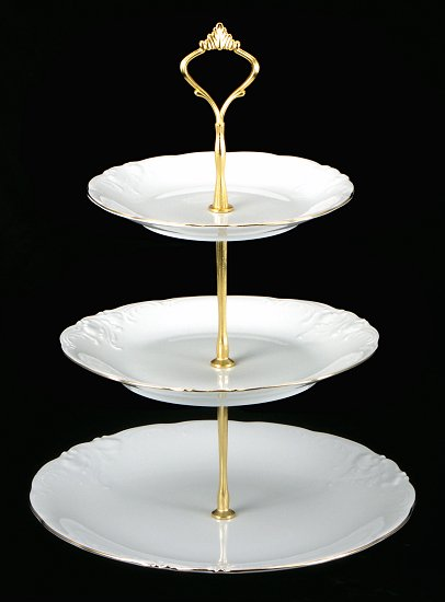 Elegance Fine China Tiered Plate