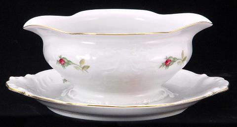 Rose Bouquet Fine China Gravy Boat
