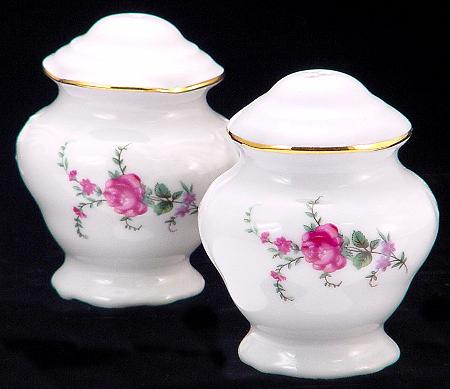 Rose Garden Fine China Salt and Pepper Shakers