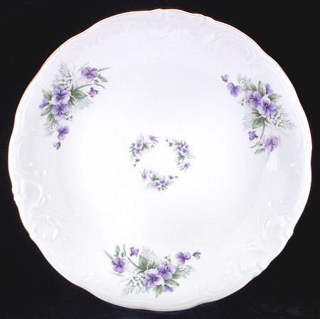 Violet Fine China Large Round Platter