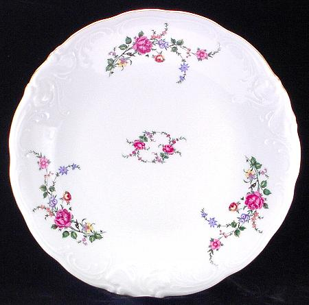 Rose Garden Fine China Large Round Platter