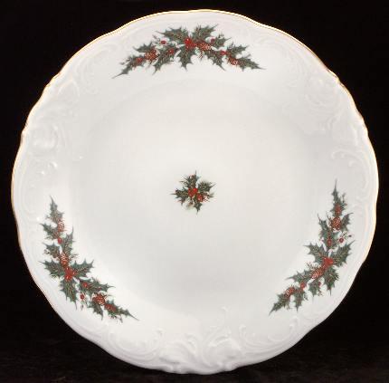 Christmas Berry Fine China Large Round Platter