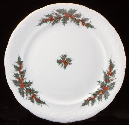 Christmas Berry Fine China Dinner Plate