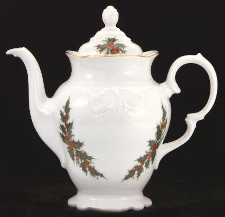 Christmas Berry Fine China Coffee Pot