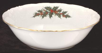 Christmas Berry Fine China Serving Bowl