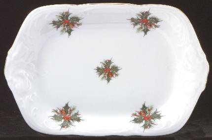 Christmas Berry Fine China Small Serving Tray