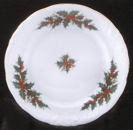Christmas Berry Fine China Children's Dessert Plate