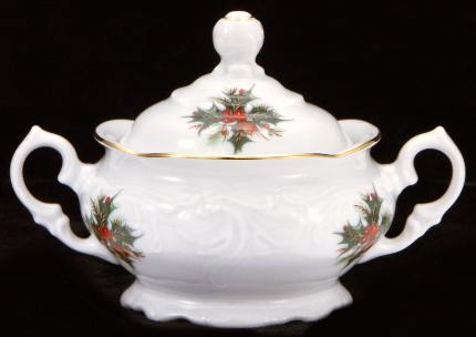 Christmas Berry Fine China Children's Sugar Bowl