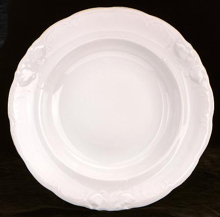 Elegance Fine China Rimmed Soup Bowl