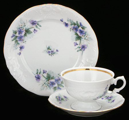 Violet Fine China Starter Setting (Bonus $10 Gift Certificate! Limit 2.)