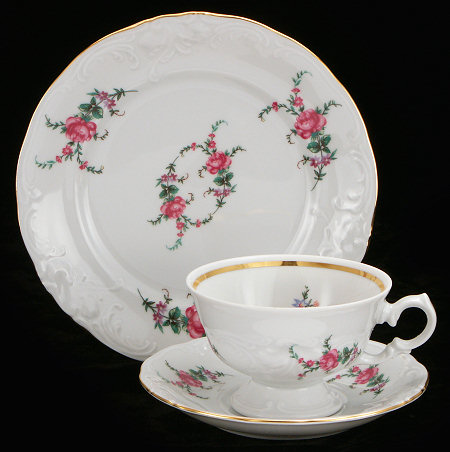 Rose Garden Fine China Starter Setting (Bonus $10 Gift Certificate! Limit 2.)