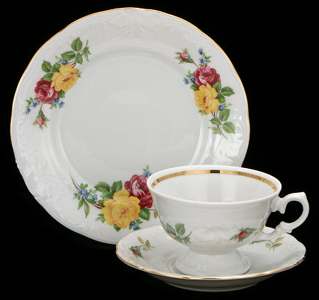 Rose Bouquet Fine China Starter Setting (Bonus $10 Gift Certificate! Limit 2.)