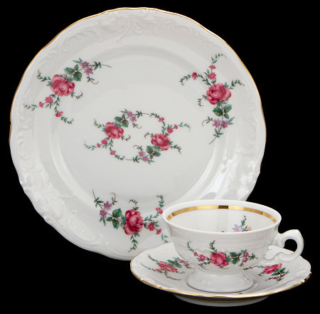 Rose Garden Fine China Children's Starter Setting (Bonus $10 Gift Certificate!  Limit 2.)