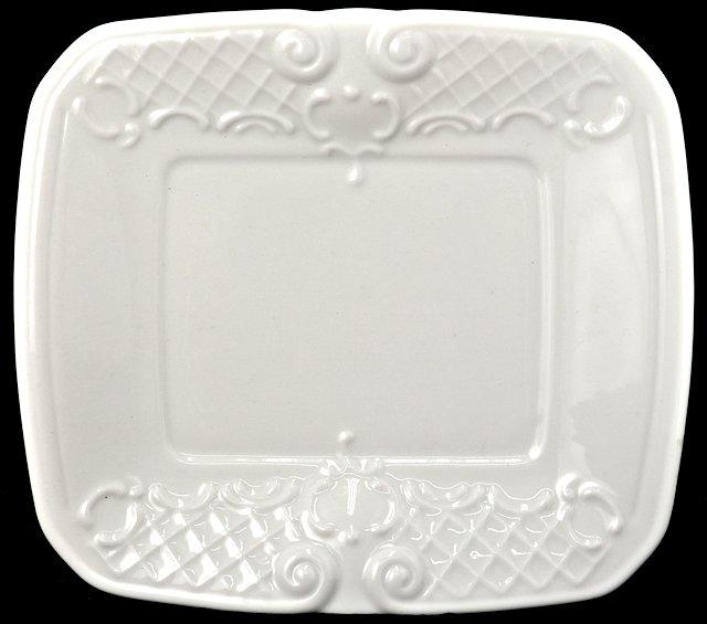 White Porcelain Rectangular Dessert Plate