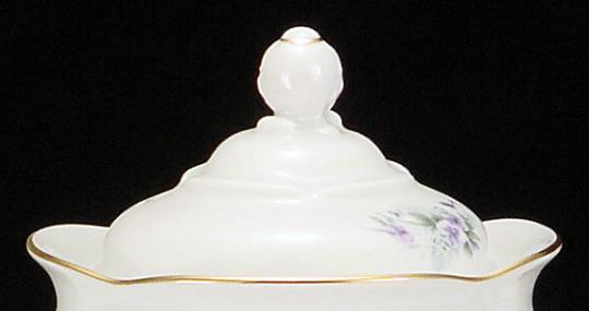 Violet Fine China Medium Teapot Lid