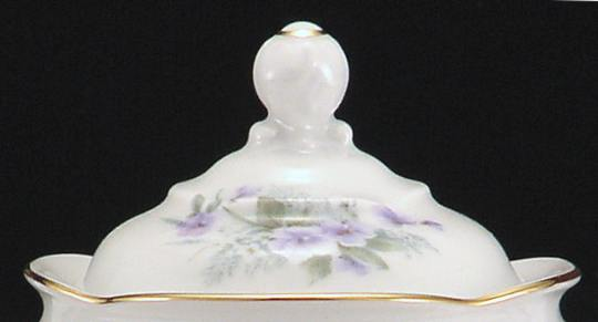 Violet Fine China Children's Sugar Bowl Lid