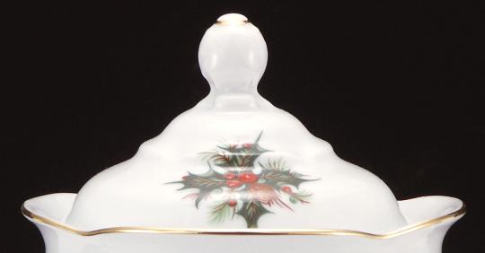 Christmas Berry Fine China Small Teapot Lid