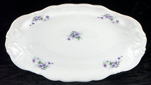 Violet Fine China Long Serving Dish