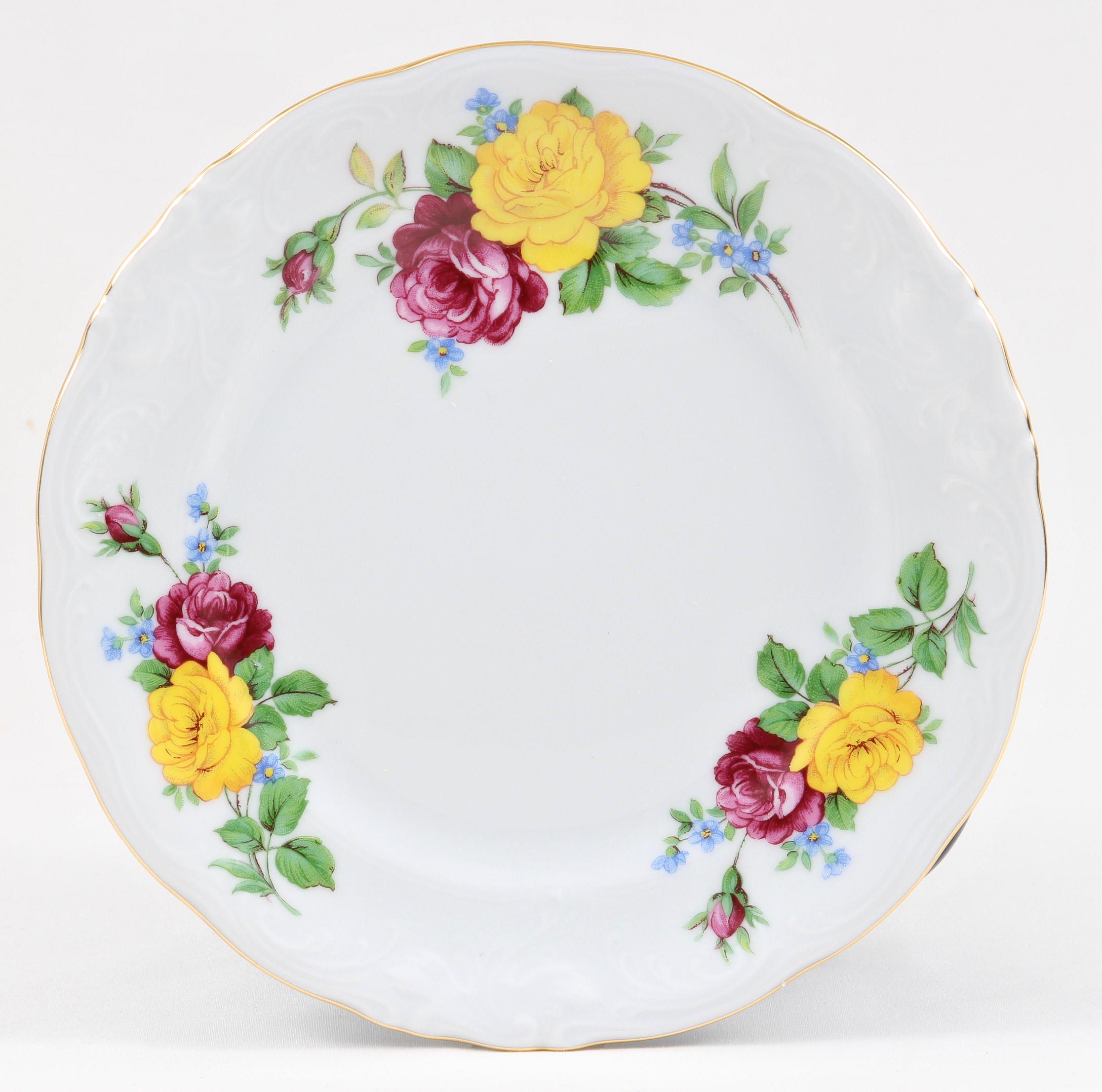 Rose Bouquet Fine China Children's Dessert Plate