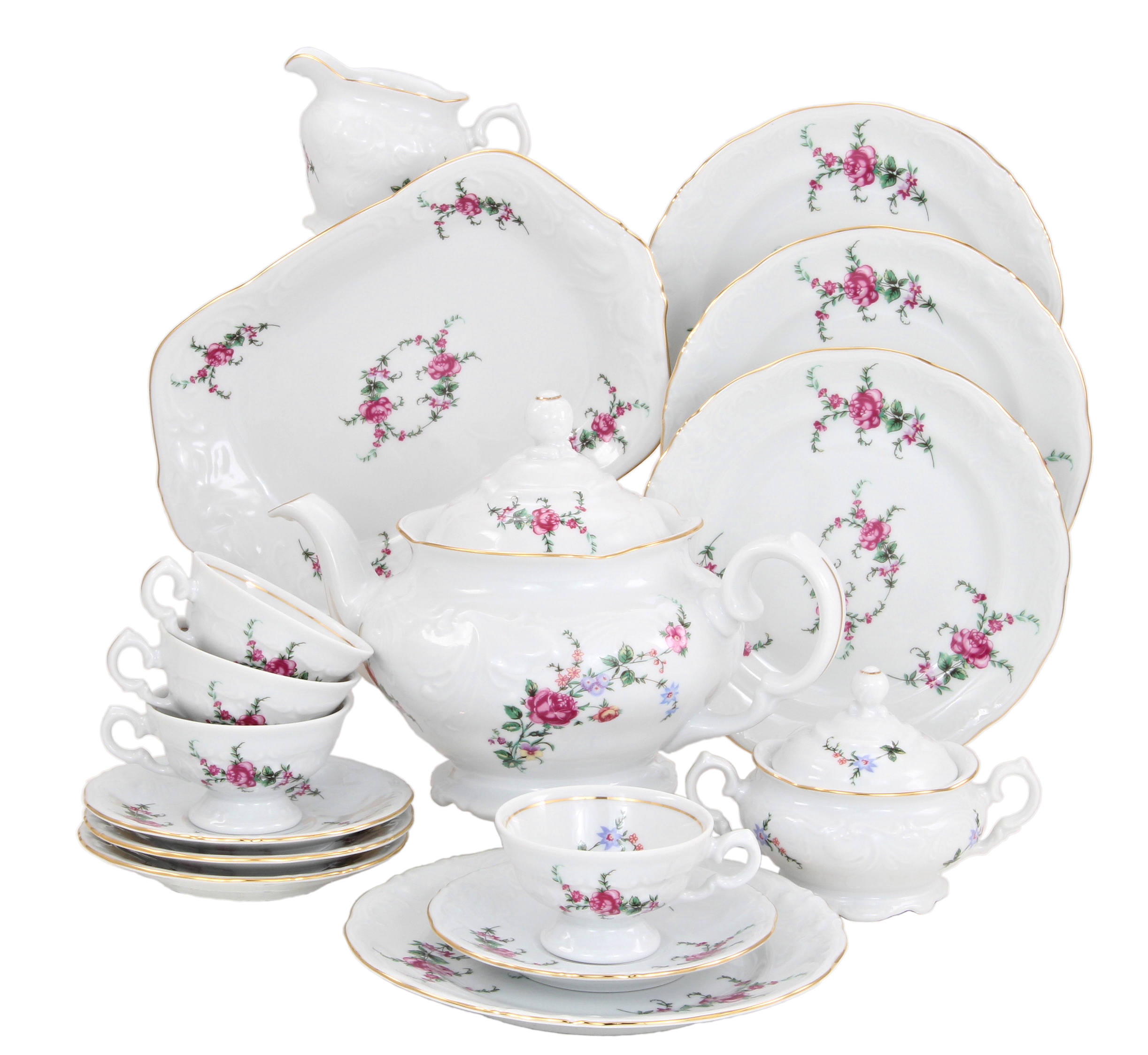 Rose Garden Fine China Tea Set for Children