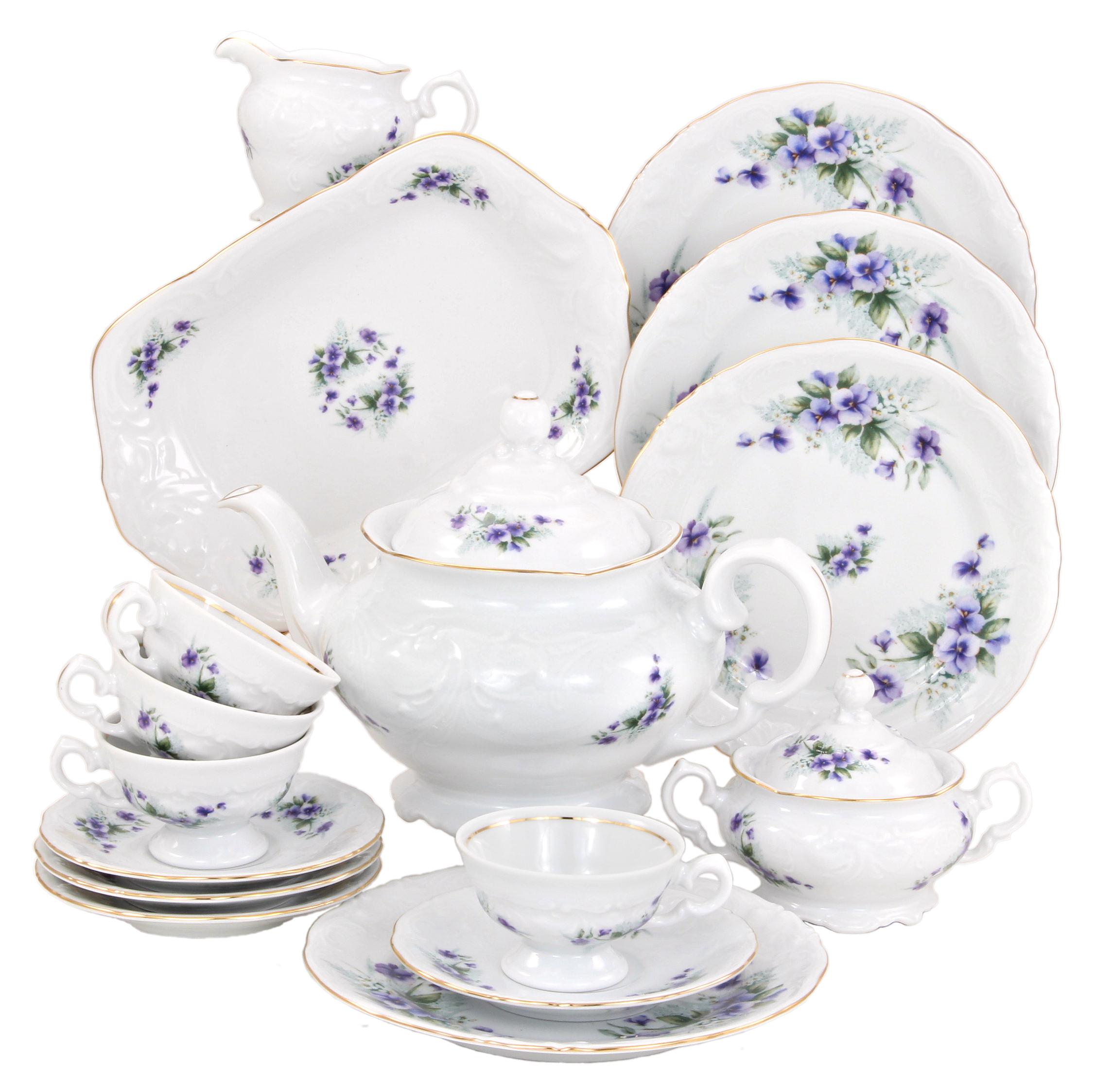 Violet Fine China Tea Set for Children