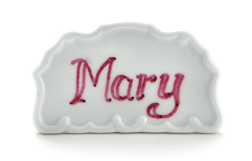 White Porcelain Place Marker