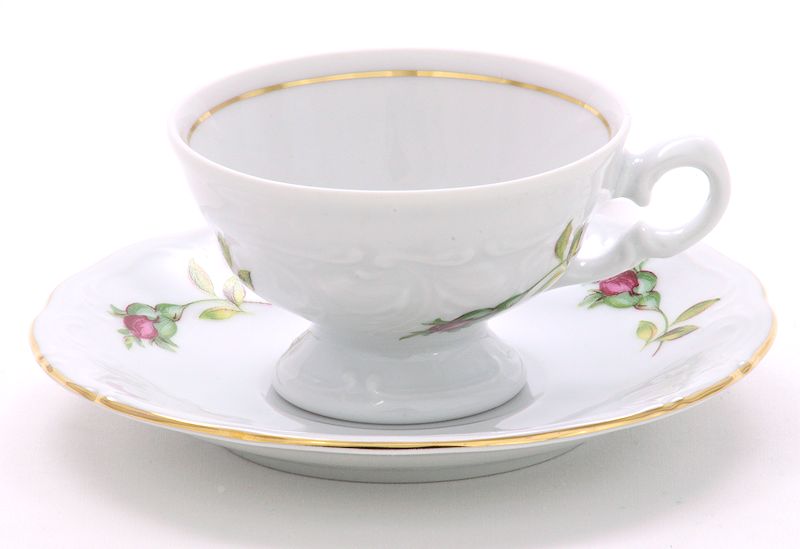 Rose Bouquet Fine China Children's Teacup and Saucer
