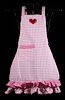 Pink Gingham Heart Apron for Girls