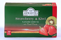 Ahmad Tea Strawberry and Kiwi Green Tea - Box of 20 Tea Bags