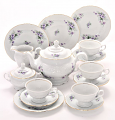 Violet Fine China Tea Set for Four