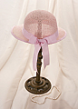 Pink Bow Girl's Tea Hat