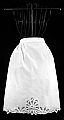 White Battenburg Lace Tea Apron
