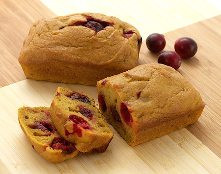Pumpkin Cranberry Mini-Loaves
