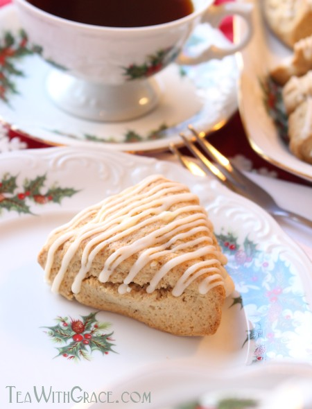 Glazed Eggnog Scones