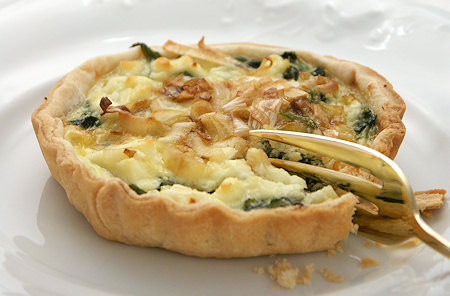 Leek and Spinach Individual Flans