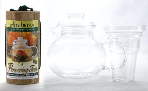 Primula Flowering Tea Glass Teapot Gift Set