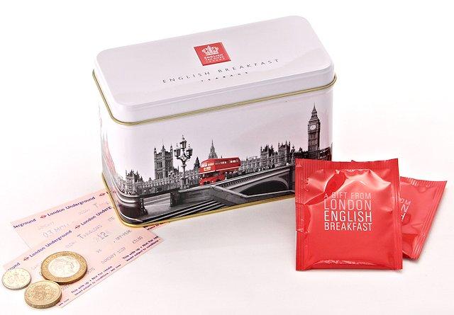 Ahmad Tea Westminster English Breakfast Tea Caddy