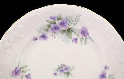 Violet Fine China Tea Set - detail