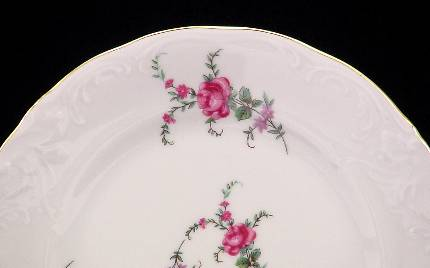 Rose Garden Fine China Tea Set - detail