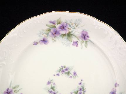 Violet Fine China 48-piece Dinnerware Set - detail & Tea With Grace :: China Sets :: Dinner Sets ::...