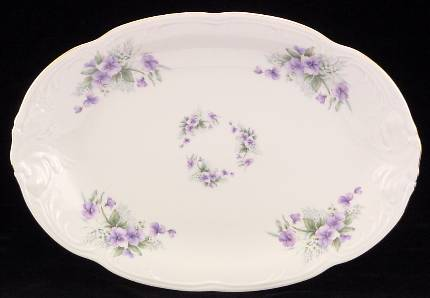 Violet Fine China 48-piece Dinnerware Set - detail