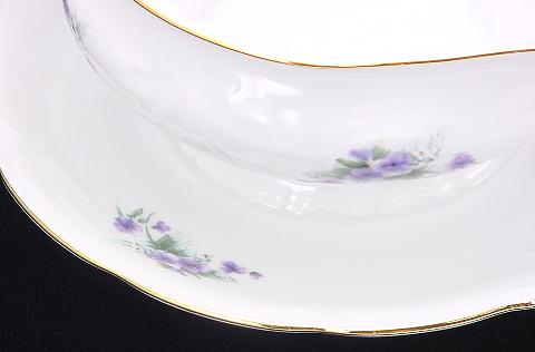 Violet Fine China Gravy Boat - detail