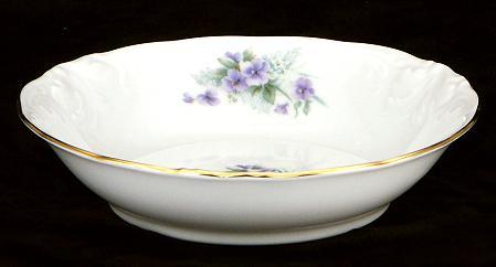 Violet Fine China Sauce Dish - detail