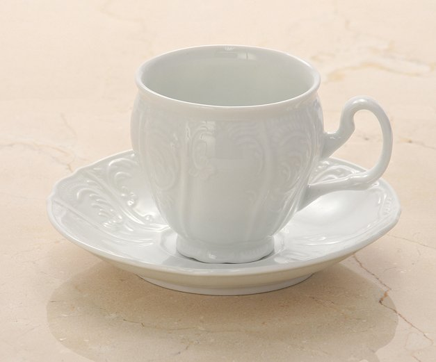 White Porcelain Lungo Cup