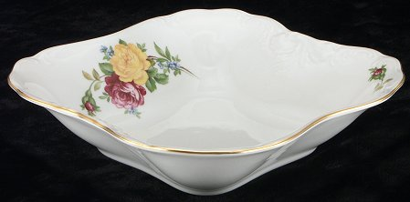 Rose Bouquet Fine China Square Serving Bowl - detail
