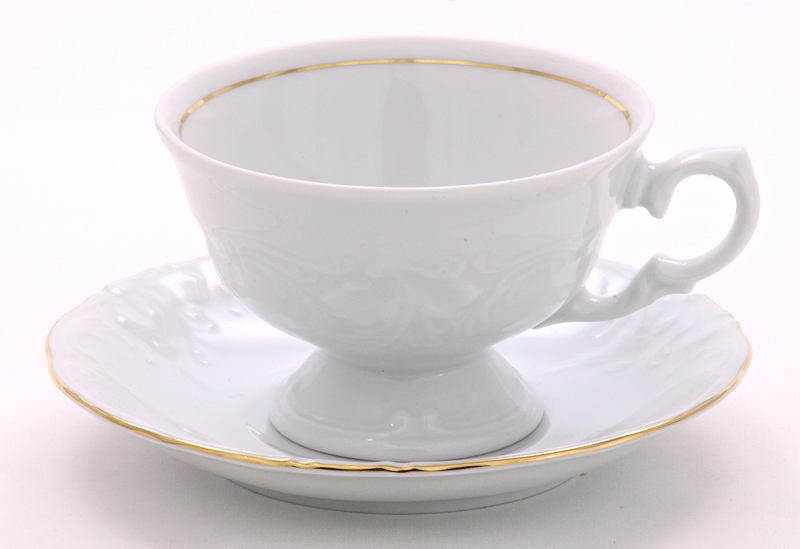 Elegance Fine China Teacup and Saucer