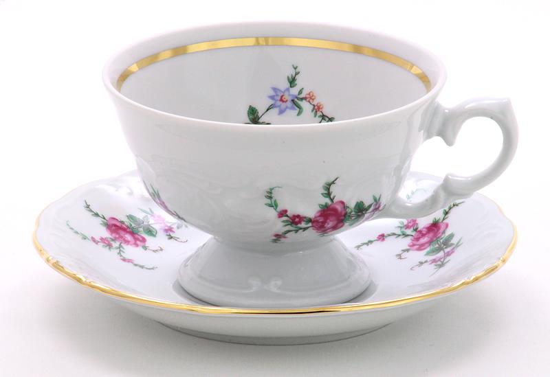 Rose Garden Fine China Tea Set for Four