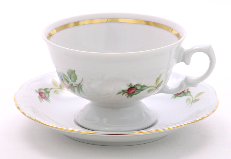 Rose Bouquet Fine China Teacup and Saucer